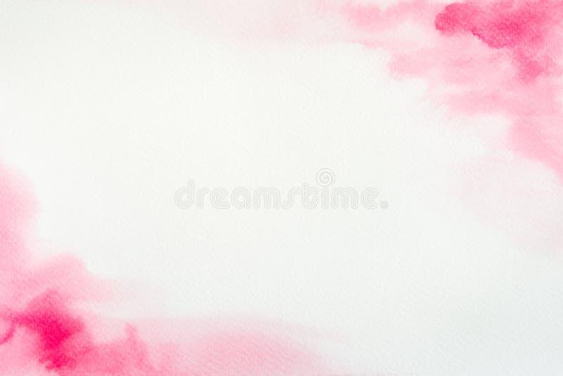 Cadre rose d'aquarelle photo libre de droits