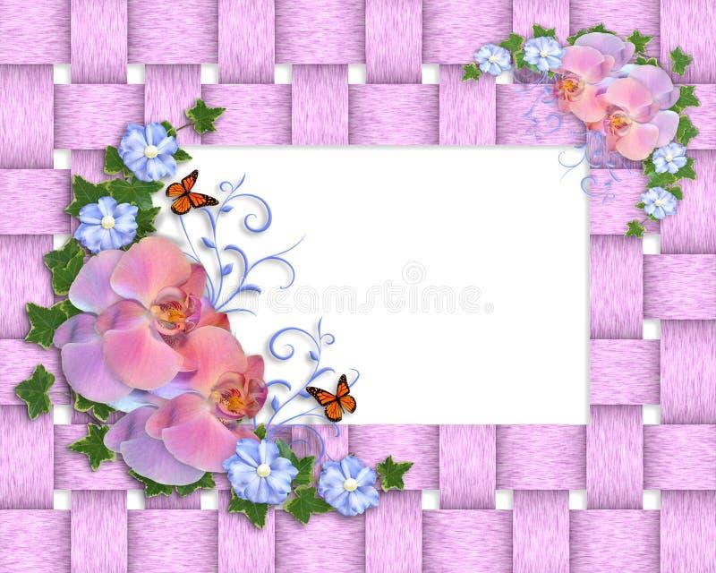 Cadre rose d'orchidées illustration libre de droits
