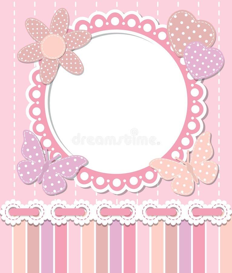 Cadre rose romantique illustration de vecteur
