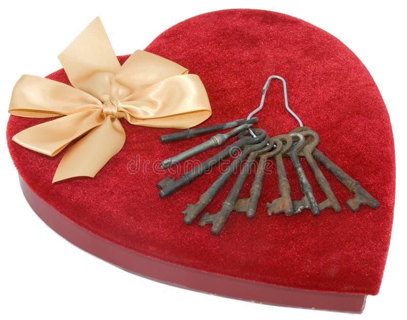 Cadre rouge de coeur de velours image libre de droits