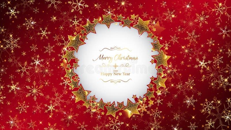 Cadre rouge de fond de Noël illustration de vecteur