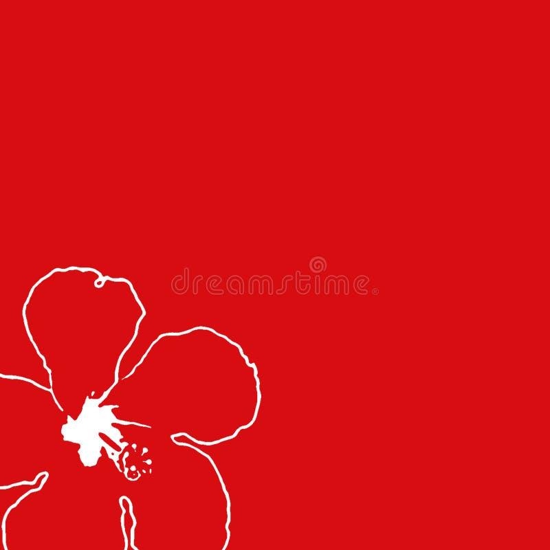 Cadre rouge de ketmie illustration de vecteur