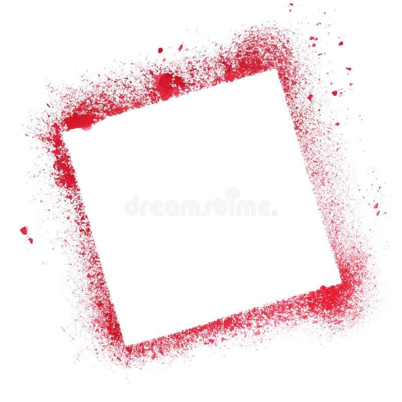 Cadre rouge de pochoir de quare illustration de vecteur