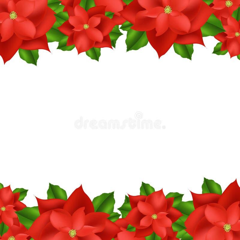 Cadre rouge de poinsettia illustration libre de droits
