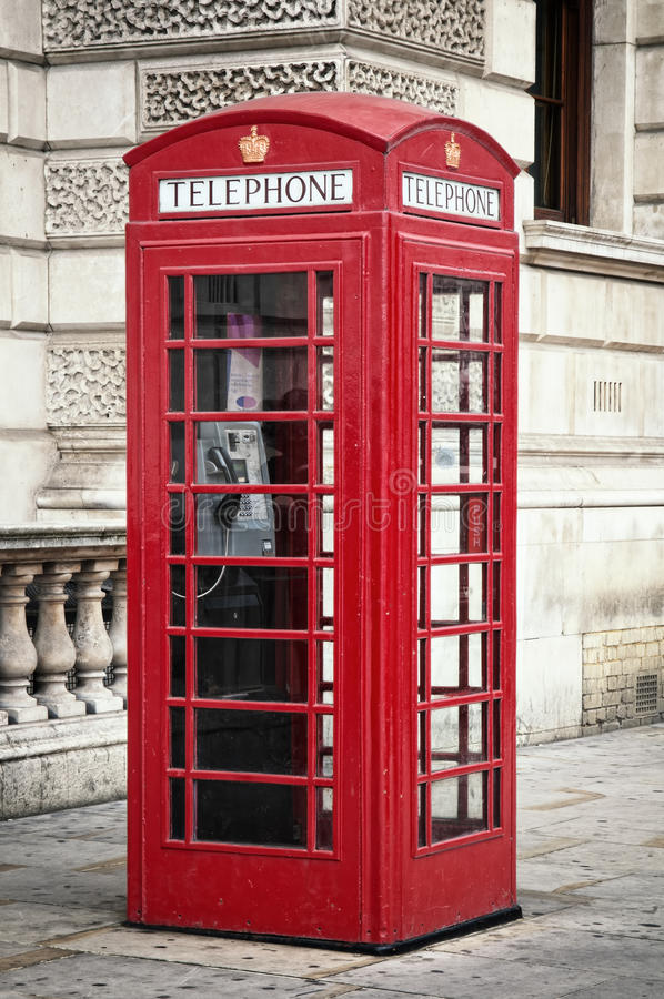 Cadre rouge de téléphone photographie stock