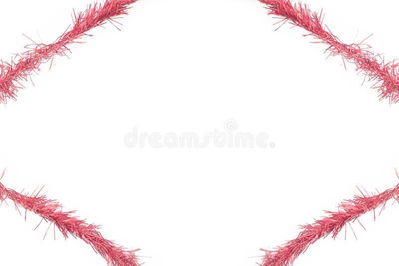 Cadre rouge de tresse photo libre de droits
