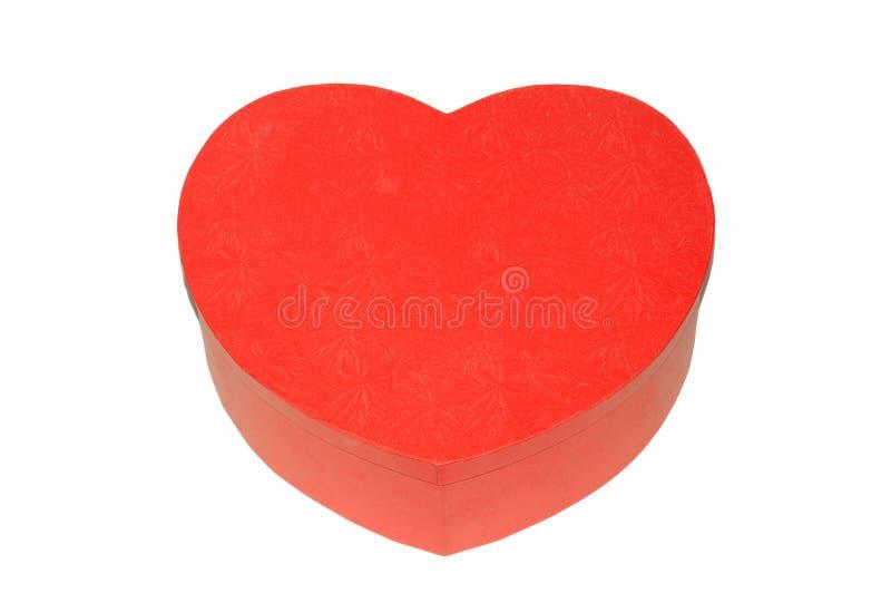 Cadre rouge en forme de coeur photographie stock libre de droits