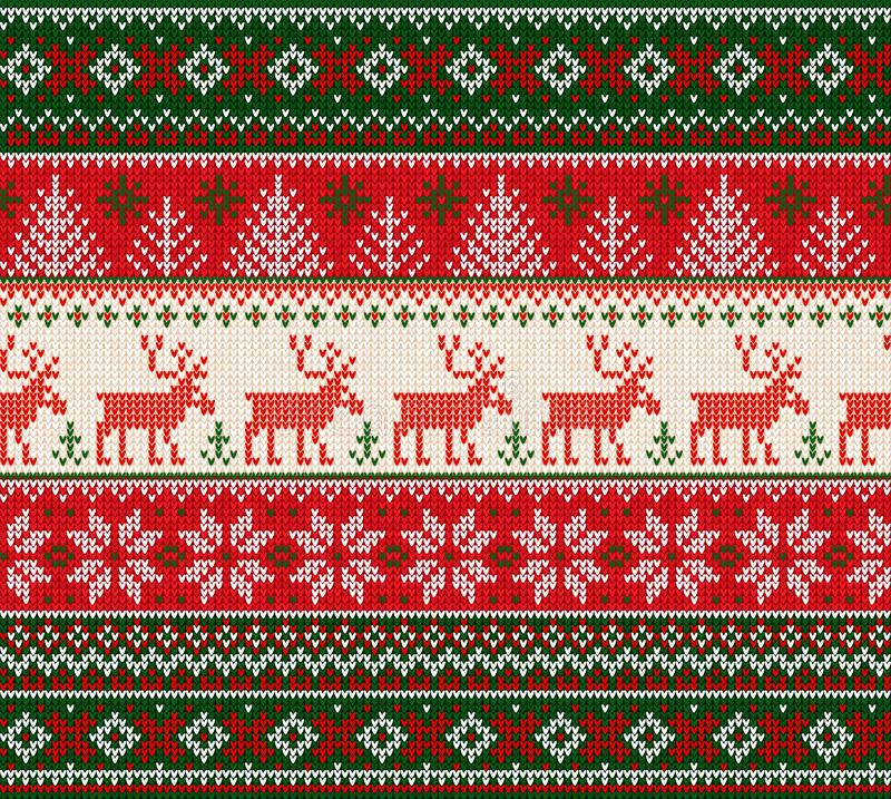 Cadre sans couture de modèle de chandail de bonne année laide de Joyeux Noël illustration stock