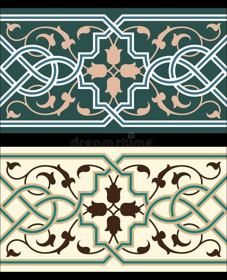 Cadre sans joint classique de Gênes illustration stock