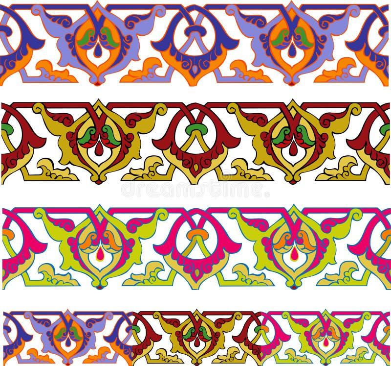 Cadre sans joint coloré illustration de vecteur