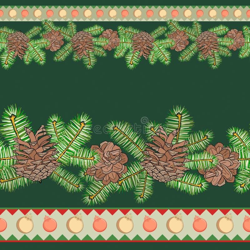 Cadre sans joint de Noël illustration de vecteur