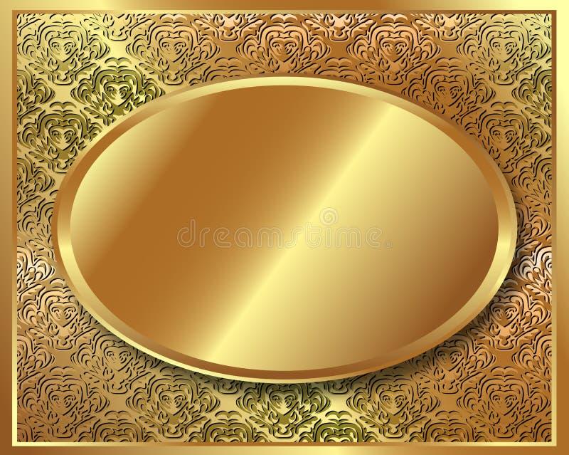 Cadre sensible d'or avec le modèle illustration stock