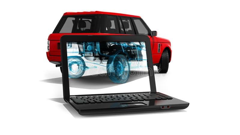 Cadre SUV de fil illustration libre de droits