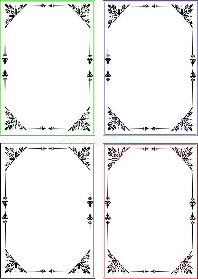 Cadre traditionnel de frontière de page illustration libre de droits