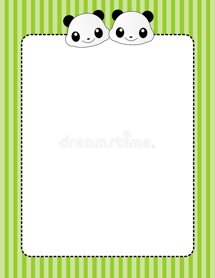 Cadre/trame animaux illustration stock