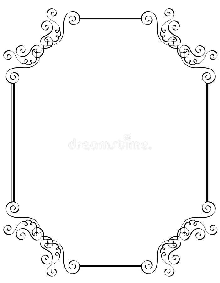 Cadre/trame d'invitation illustration de vecteur