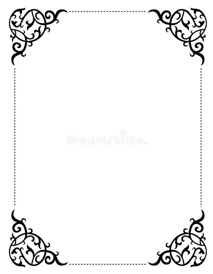 Cadre/trame d'invitation