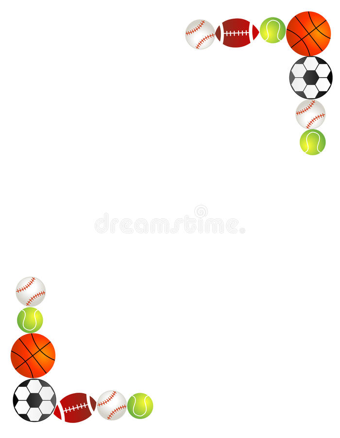 Cadre/trame de billes de sport illustration stock
