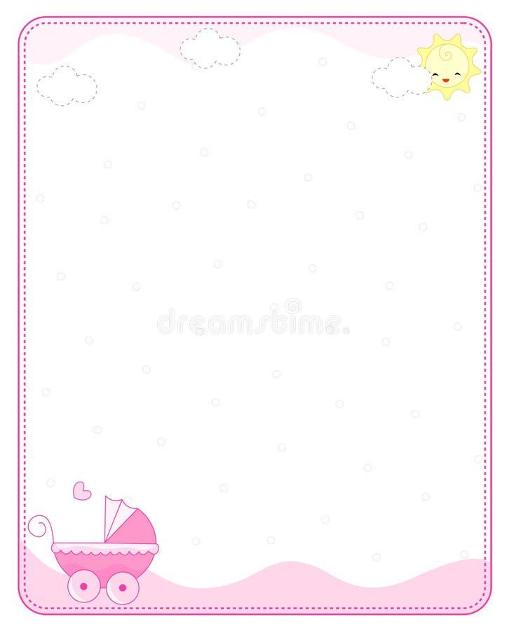 Cadre/trame de chéri illustration stock