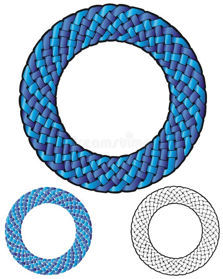 Cadre tressé de boucle illustration stock