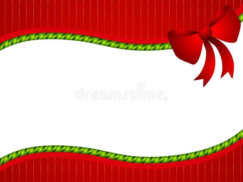 Cadre vert rouge de proue de Noël illustration libre de droits