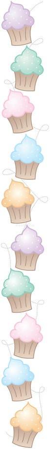 Cadre vertical de gâteau illustration stock