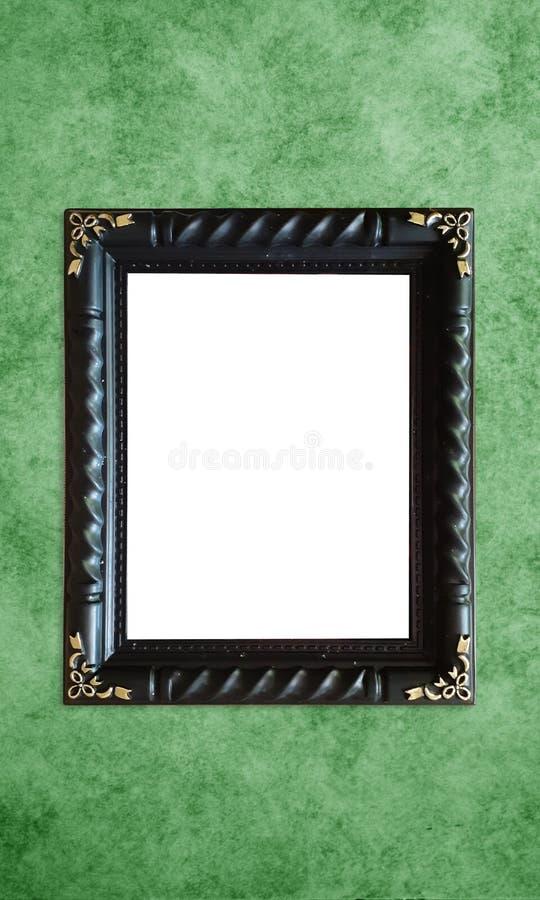 Cadre vide élégant de peinture de photo de classique antique coloré noir de cru à l'arrière-plan grunge et rétro pour l'intérieur photographie stock libre de droits