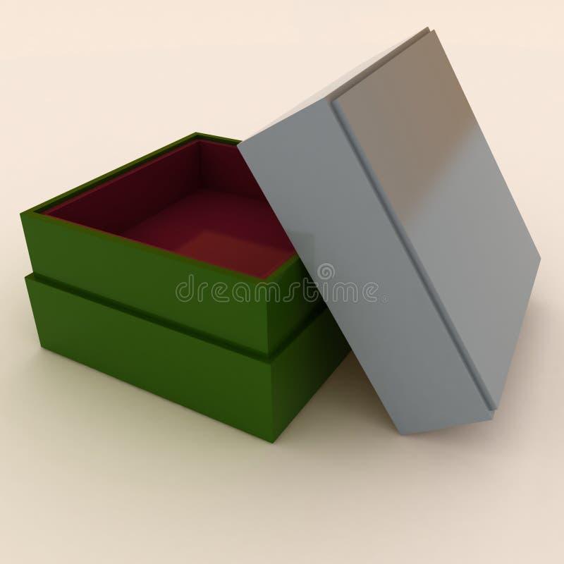 Cadre vide avec le cache pour des cadeaux illustration de vecteur