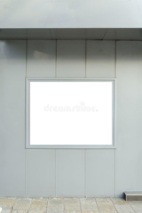 Cadre vide pour vous la publicité dans un mur extérieur photo libre de droits