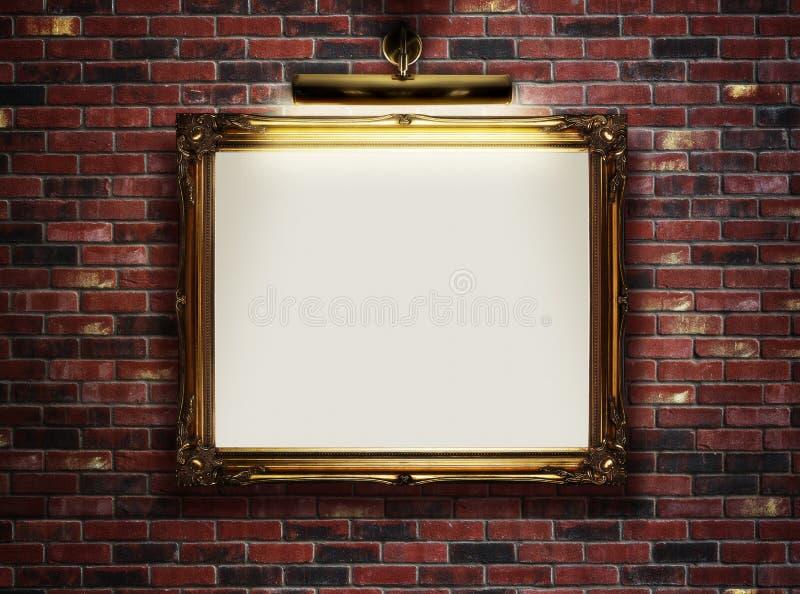 cadre vide sur le mur images libres de droits   image