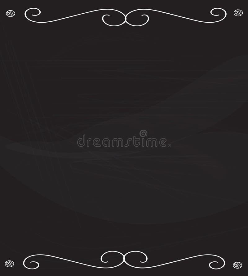 Cadre vide sur le tableau noir illustration libre de droits