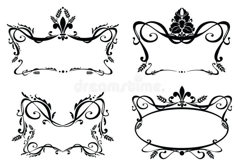 Cadres baroques illustration de vecteur