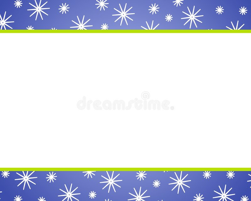 Cadres bleus de neige de Noël illustration de vecteur