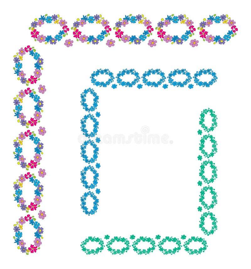 Cadres décoratifs de fleur images libres de droits