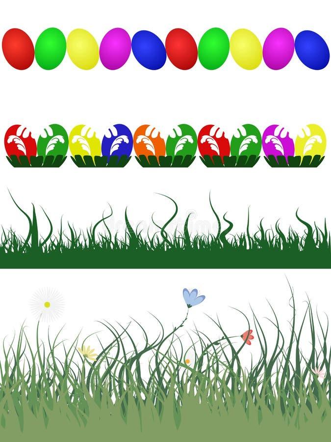 Cadres décoratifs de Pâques illustration libre de droits