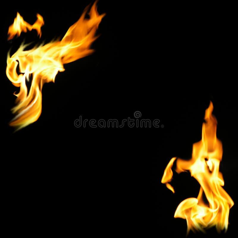 Cadres d'incendie et de flammes illustration de vecteur