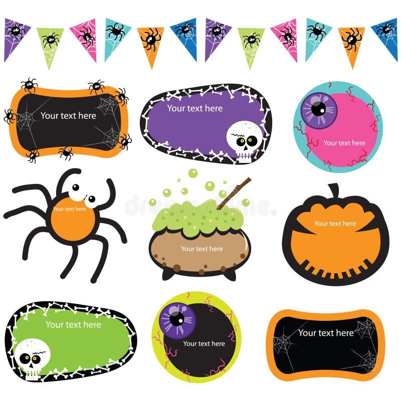 Cadres d'invitation de Halloween illustration libre de droits