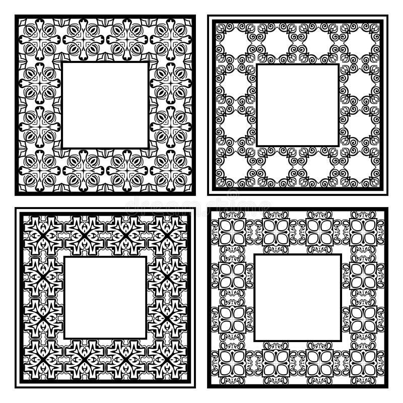 Cadres d'ornamental de vintage illustration de vecteur