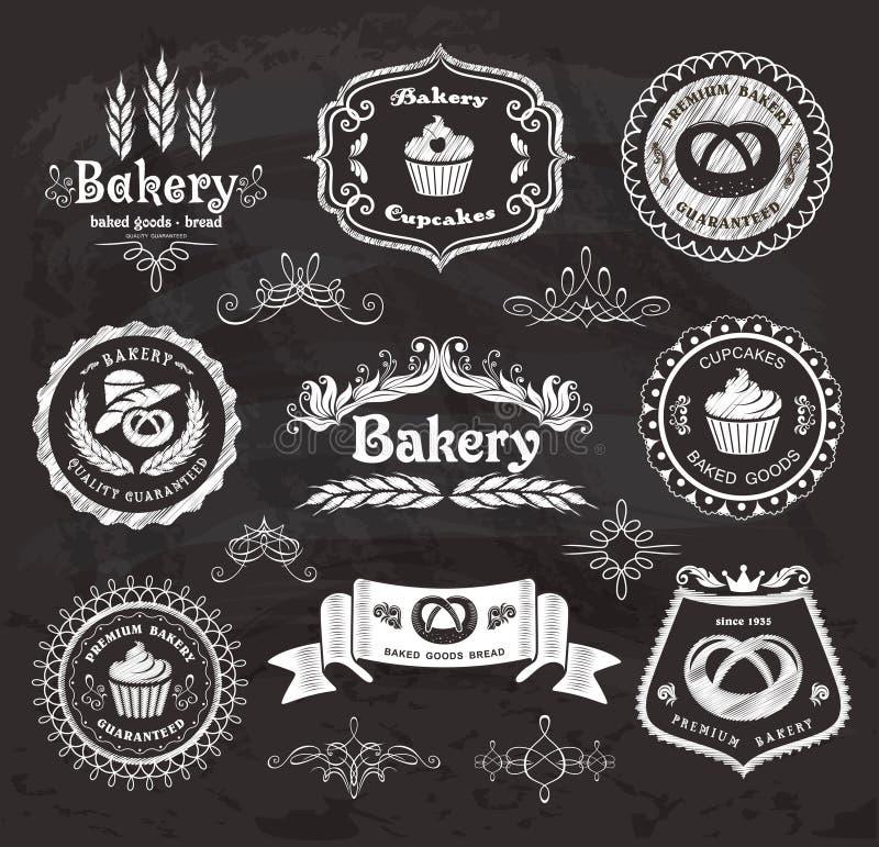 Cadres de boulangerie de vintage. illustration libre de droits