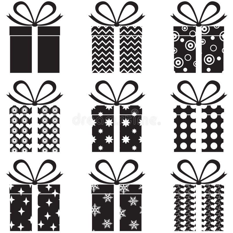 Cadres de cadeau illustration de vecteur