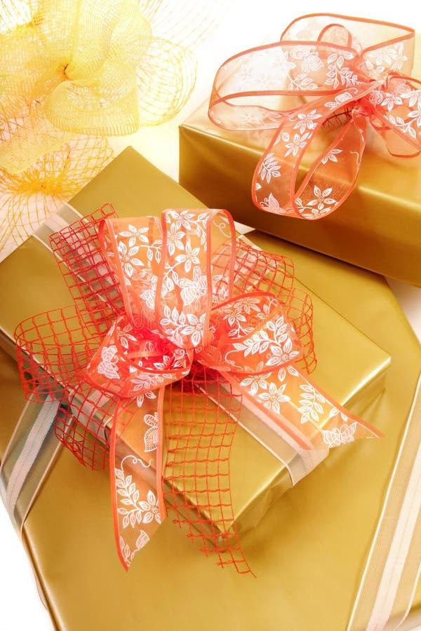 Cadres de cadeaux photo stock
