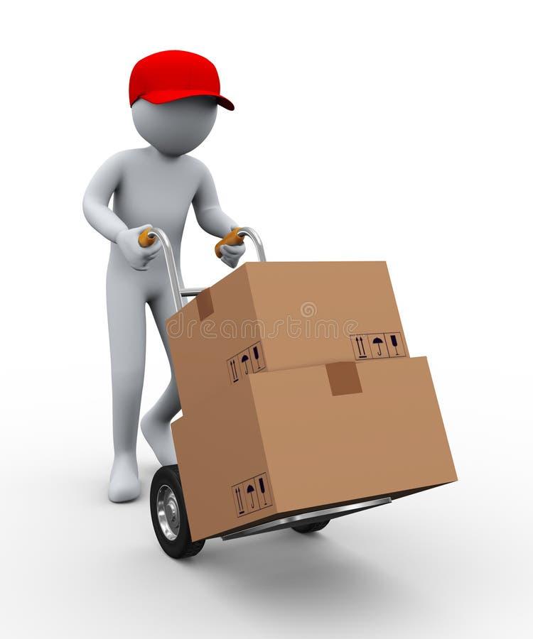 cadres de camion de main de l'homme 3d illustration stock