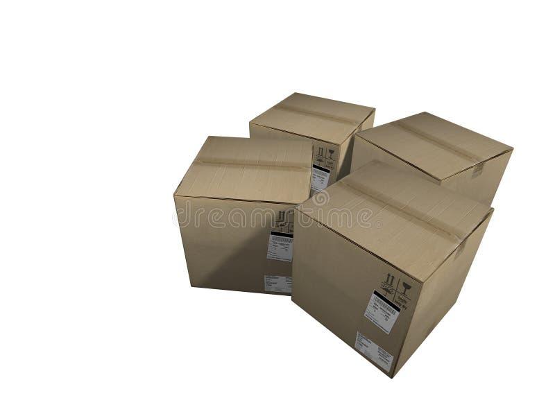 Cadres de cargaison illustration stock
