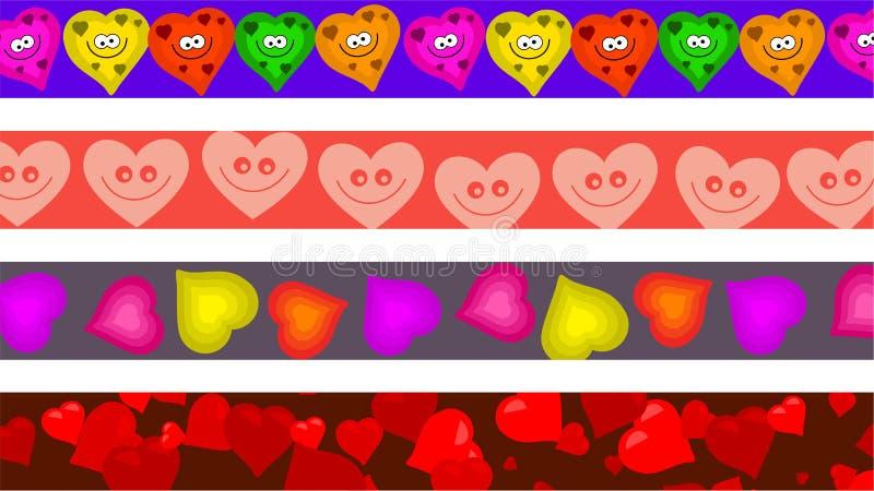 Cadres de coeur illustration stock