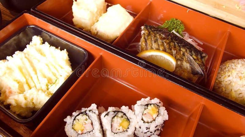 Cadres de déjeuner japonais image libre de droits