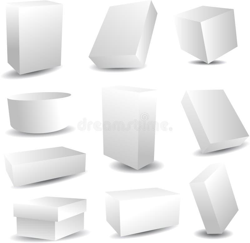 Cadres de empaquetage blanc illustration stock