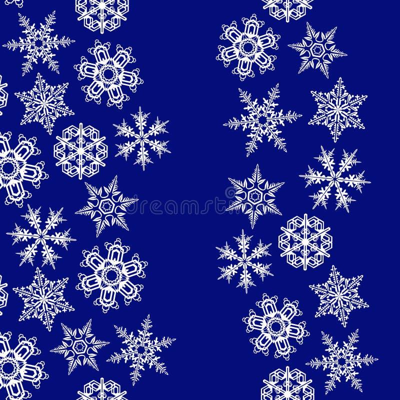 Cadres de flocons de neige avec l'espace de copie. illustration de vecteur