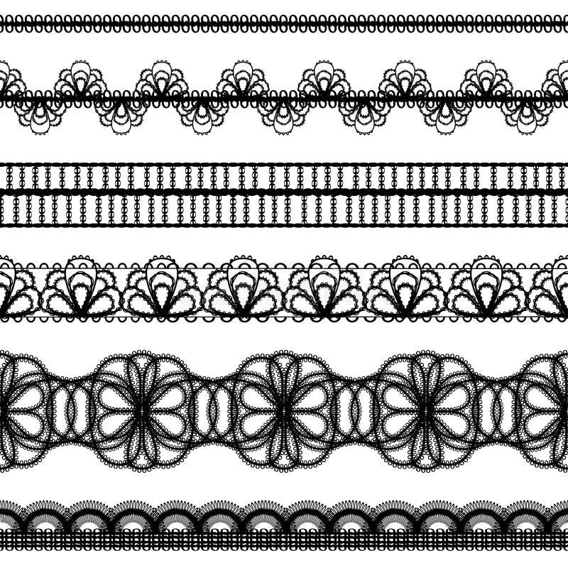 Cadres de lacet. éléments de conception illustration libre de droits