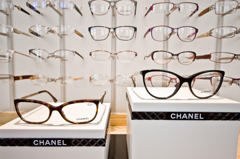 Cadres de monocle de Chanel image libre de droits
