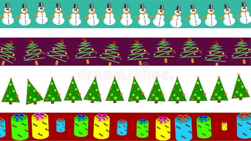 Cadres de Noël illustration stock